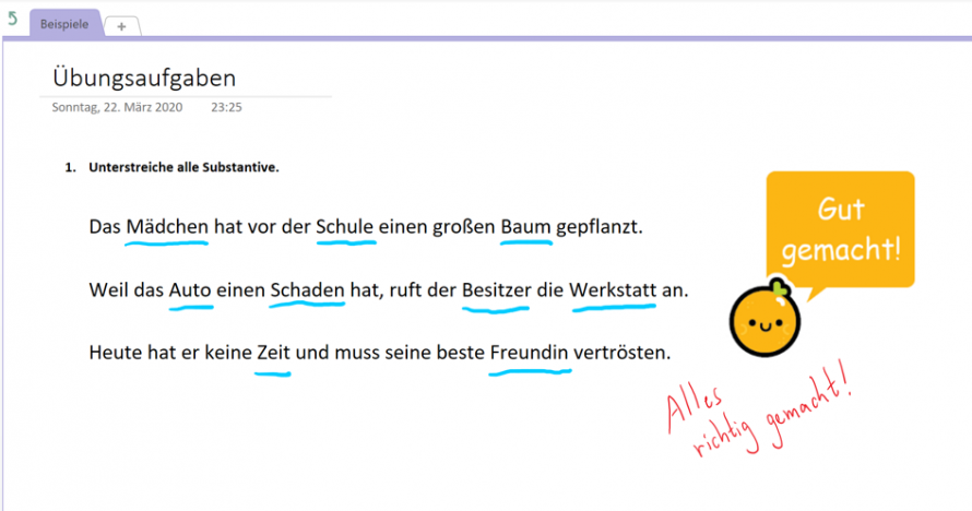 Course notebook in OneNote